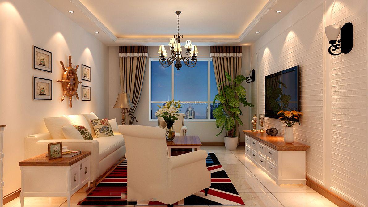 93平米房子简约美式风格装修效果图图片