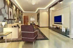 現代新房客廳背景墻墻紙裝修效果圖