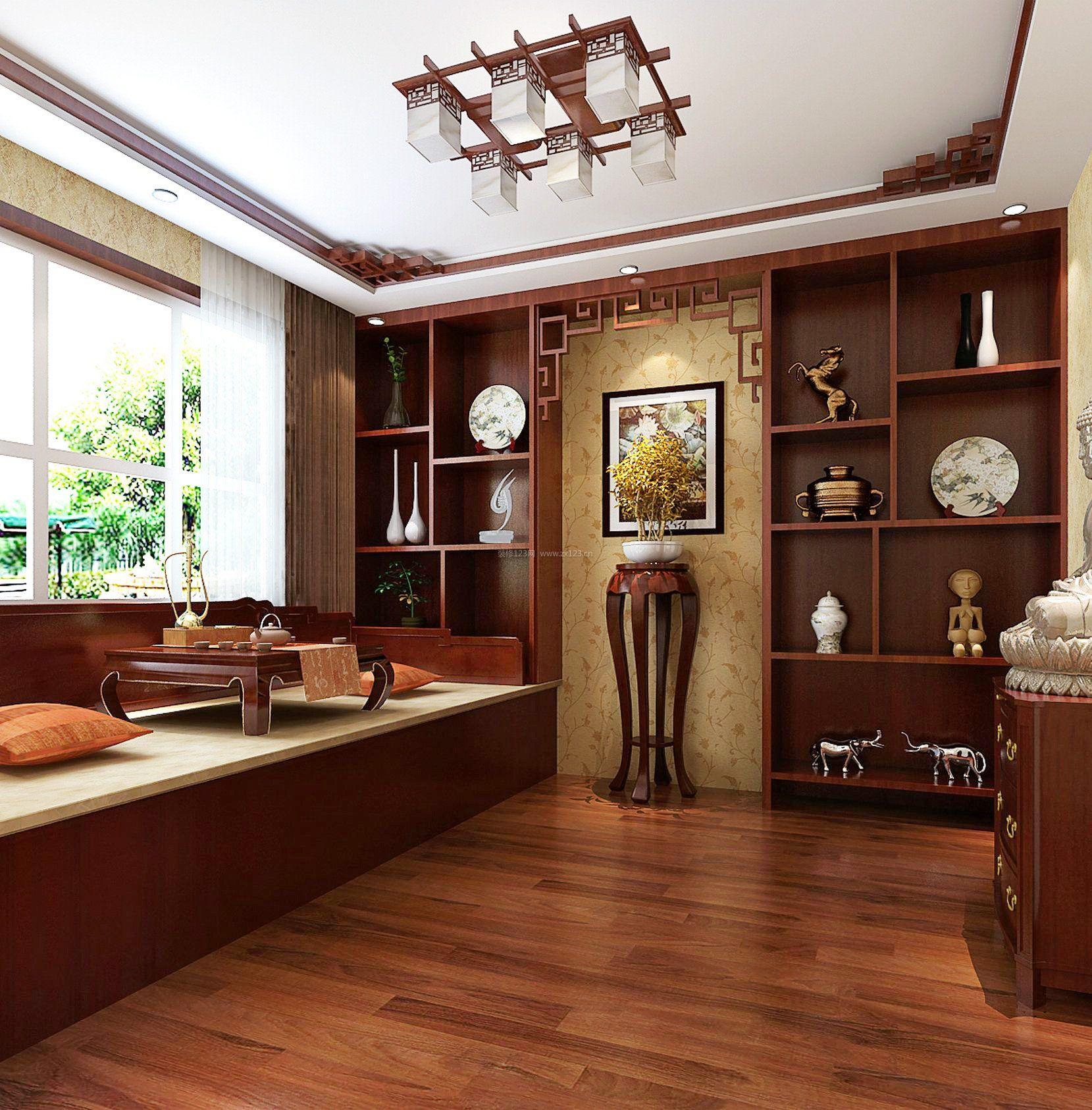 新中式家装风格博古架装修效果图大全