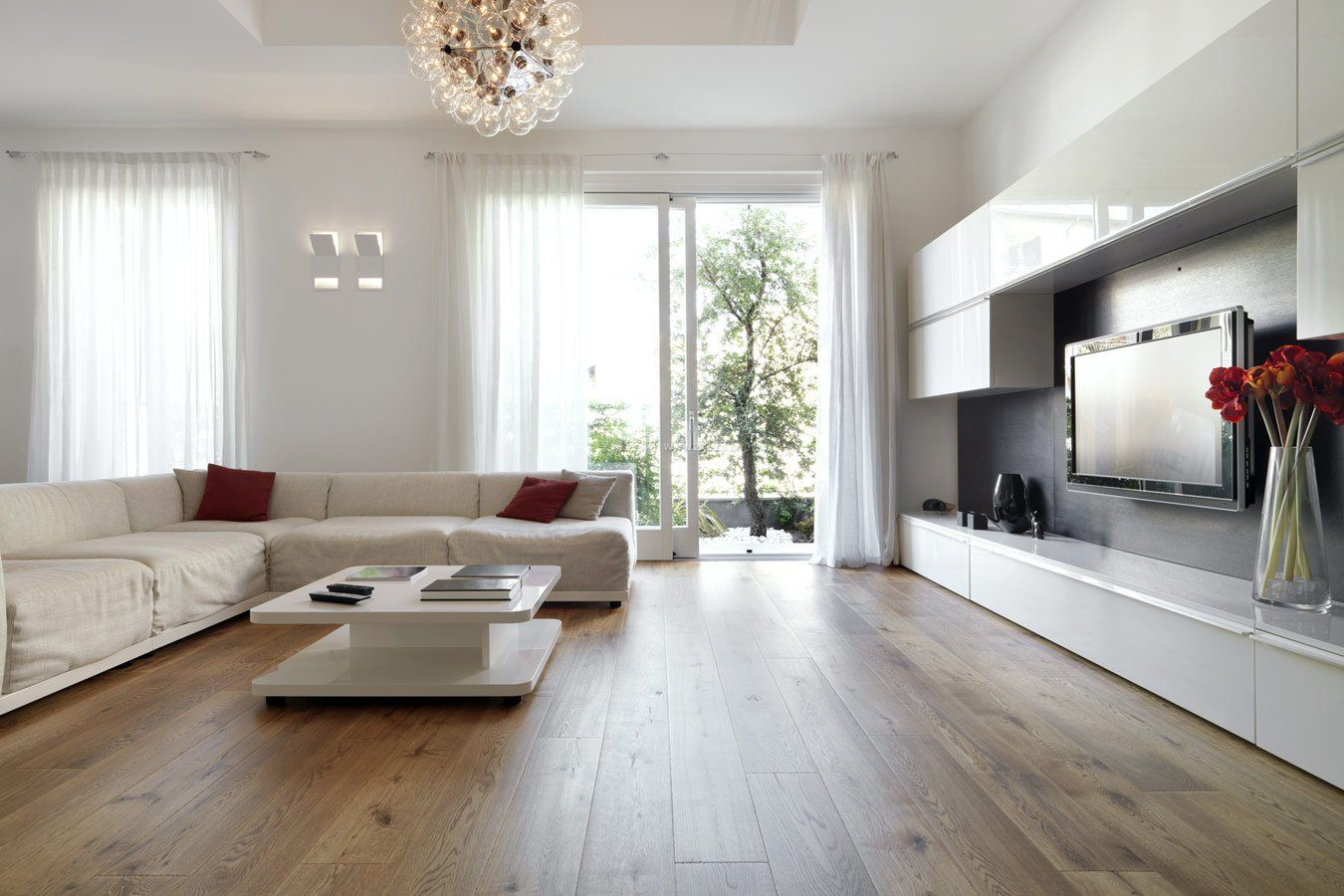 客厅实木地板贴图效果_装修123效果图