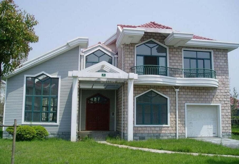 农村别墅外墙瓷砖效果图
