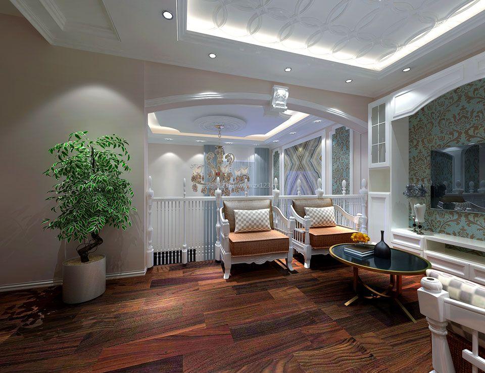 时尚简欧式家居吊顶造型装修效果图片图片
