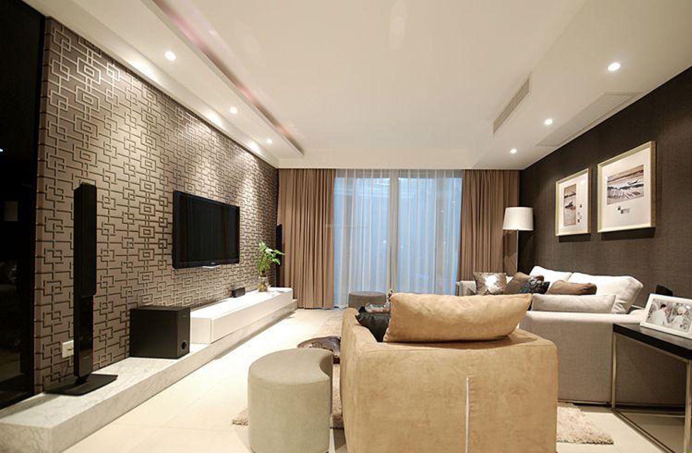 家装效果图 中式 2017现代中式房间电视背景墙装修效果图 提供者图片