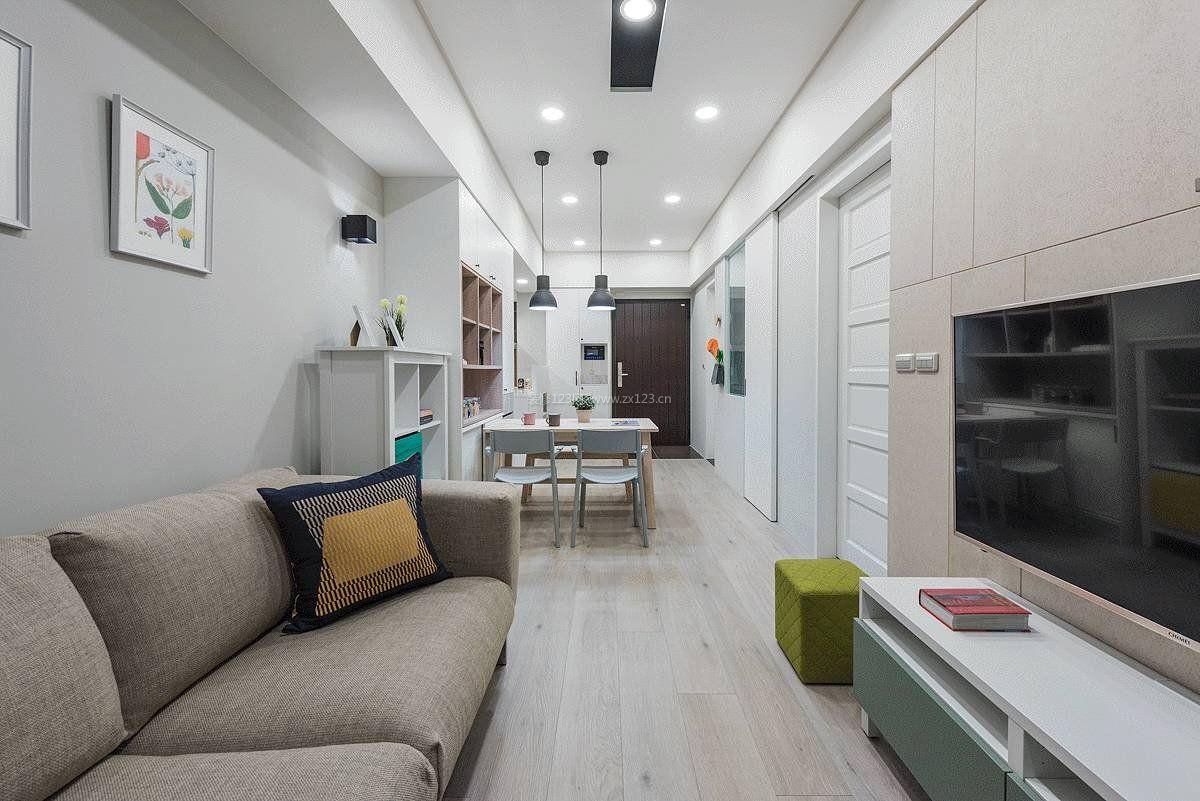 老房子改造长方形客厅装修效果图片