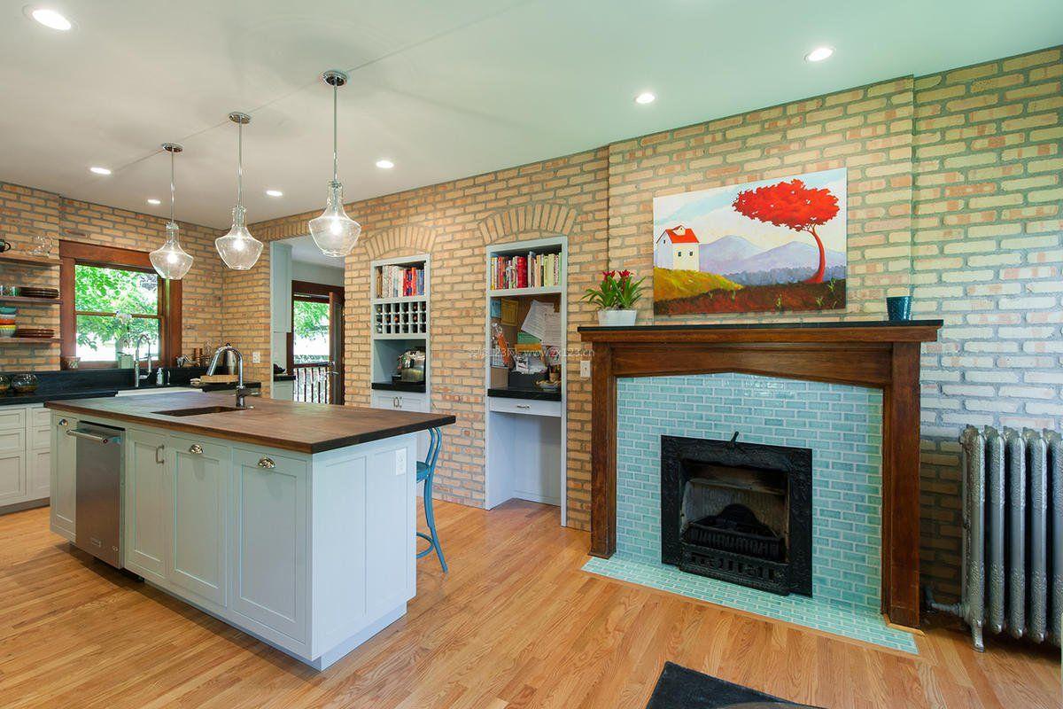 老房子改造开放厨房装修效果图