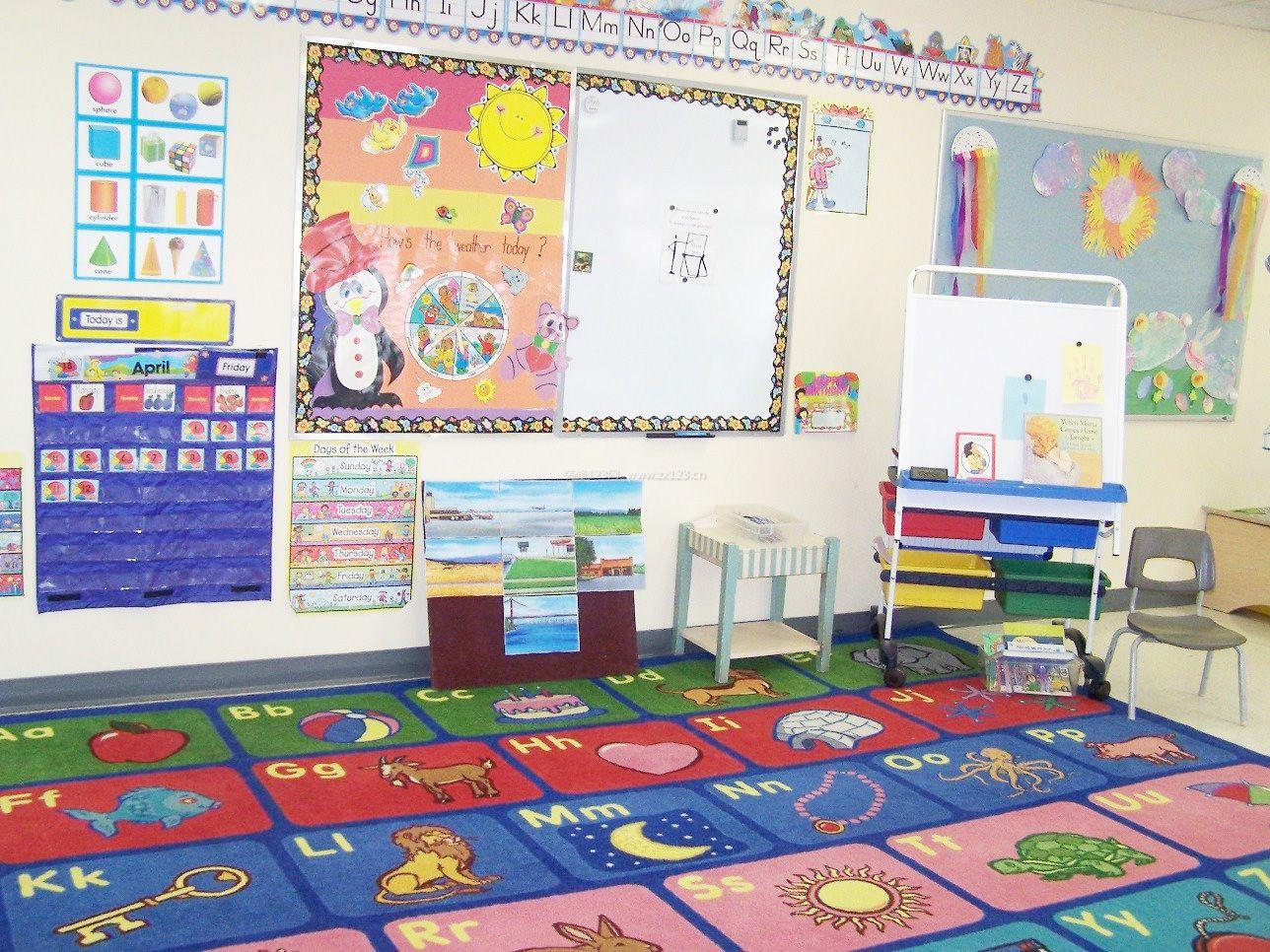 幼儿园中班教室主题墙布置效果图片