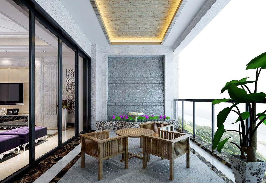 阳台家装设计装修效果图片