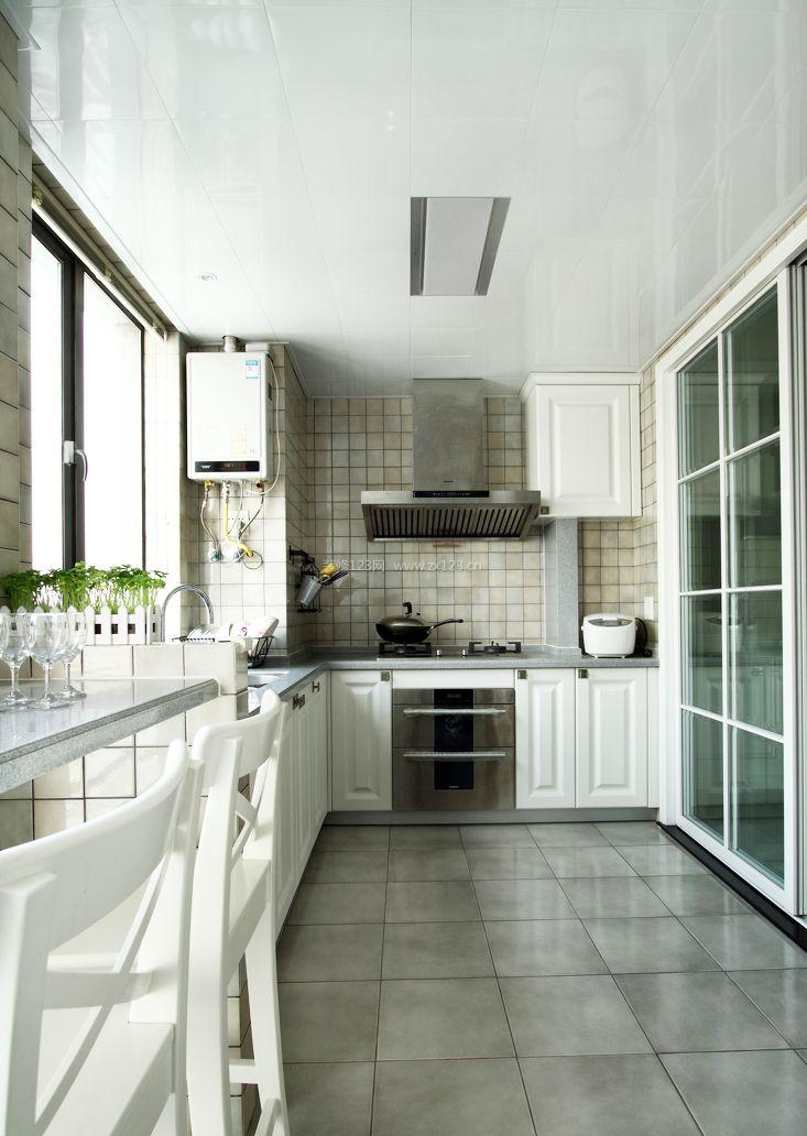 l型厨房装修效果图欣赏