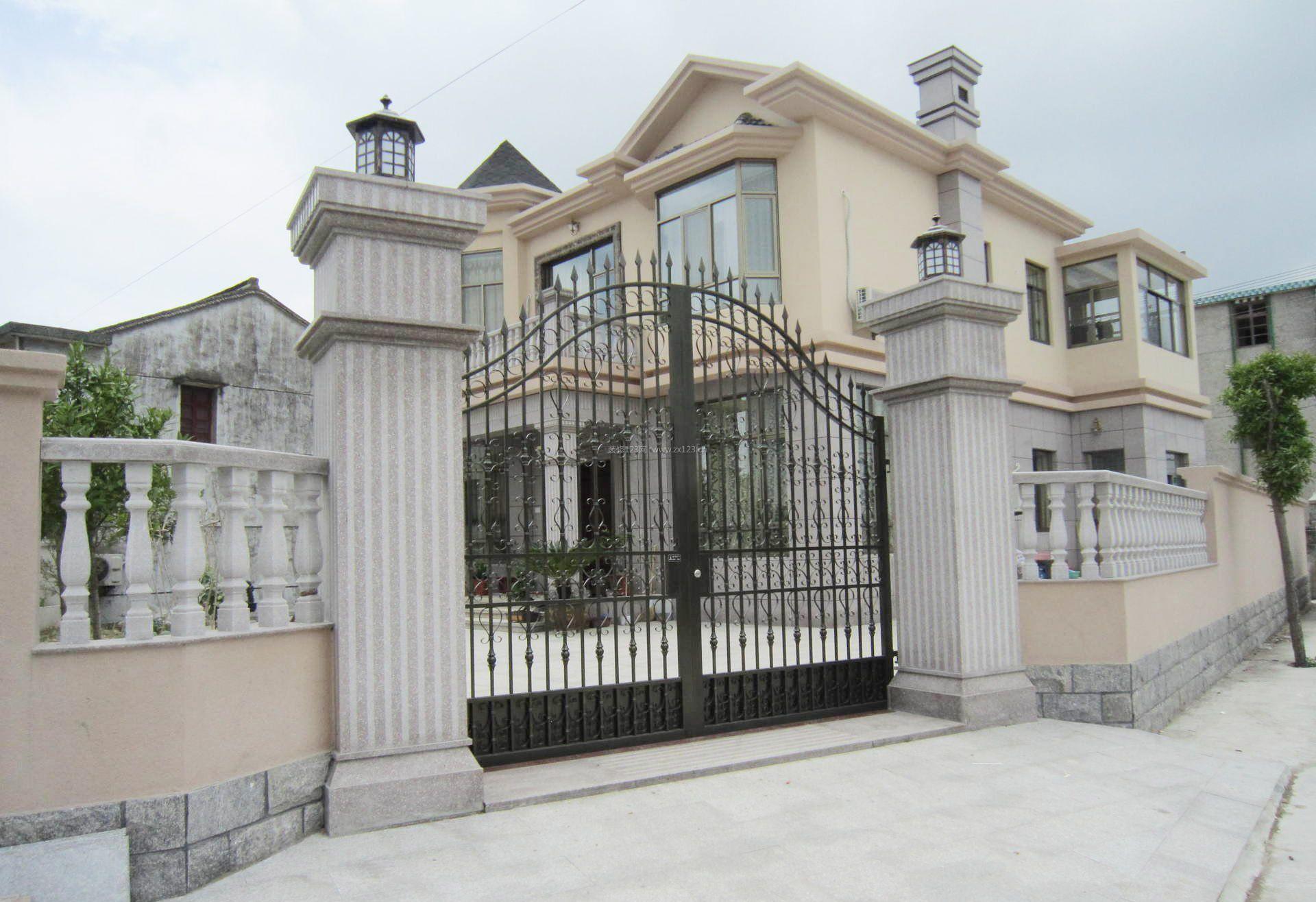 农村小别墅围墙大门门口设计欣赏
