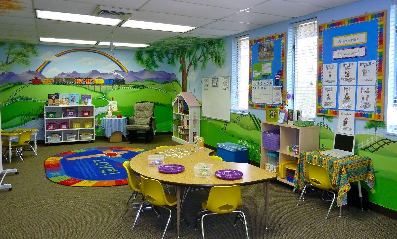 幼儿园中班主题墙饰设计布置图片