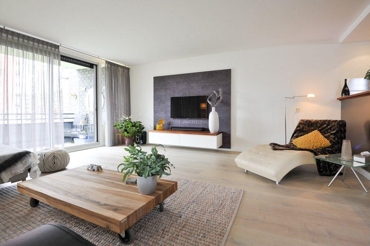 新房简约客厅电视背景墙效果图片