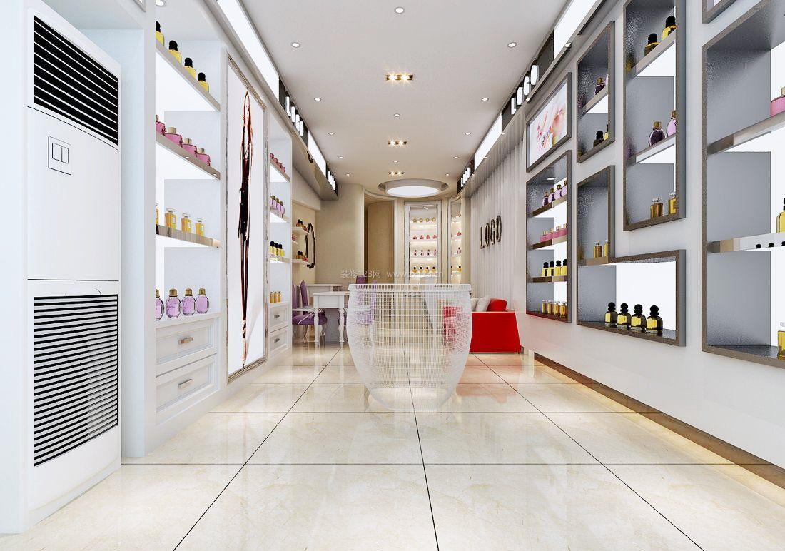 韩国美甲店白色地砖装修效果图片