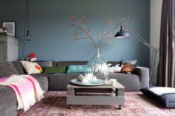 新房現代風格客廳沙發背景墻裝修圖片