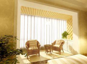 阳台装修图片效果图 阳台窗帘图片