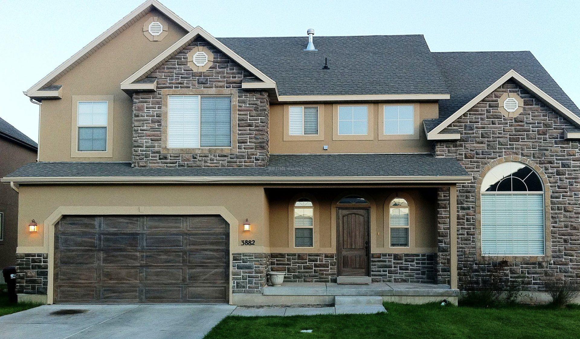 最新樓房外墻瓷磚設計效果圖大全