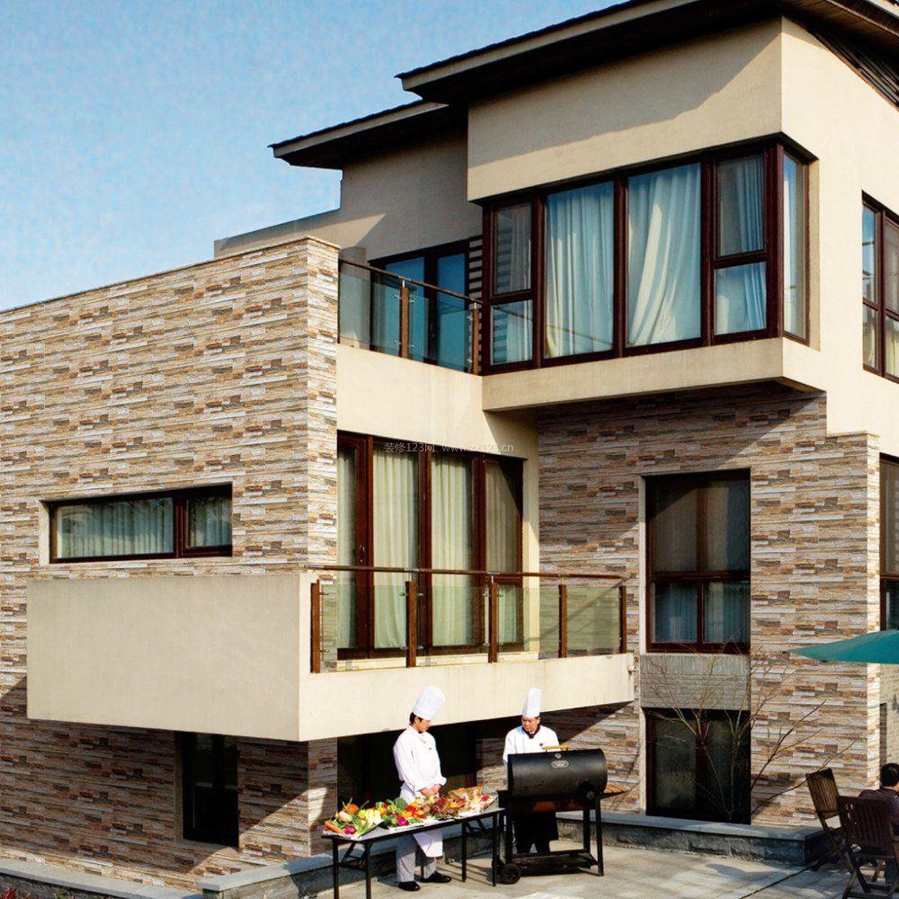 楼房外墙瓷砖设计效果图片