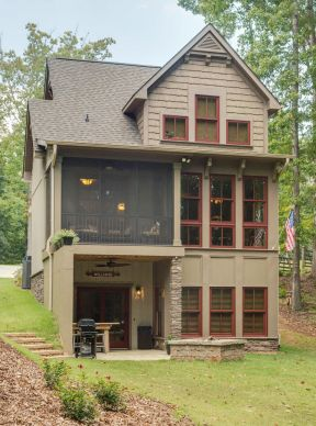 乡村三层楼房设计效果图-小户型楼房设计