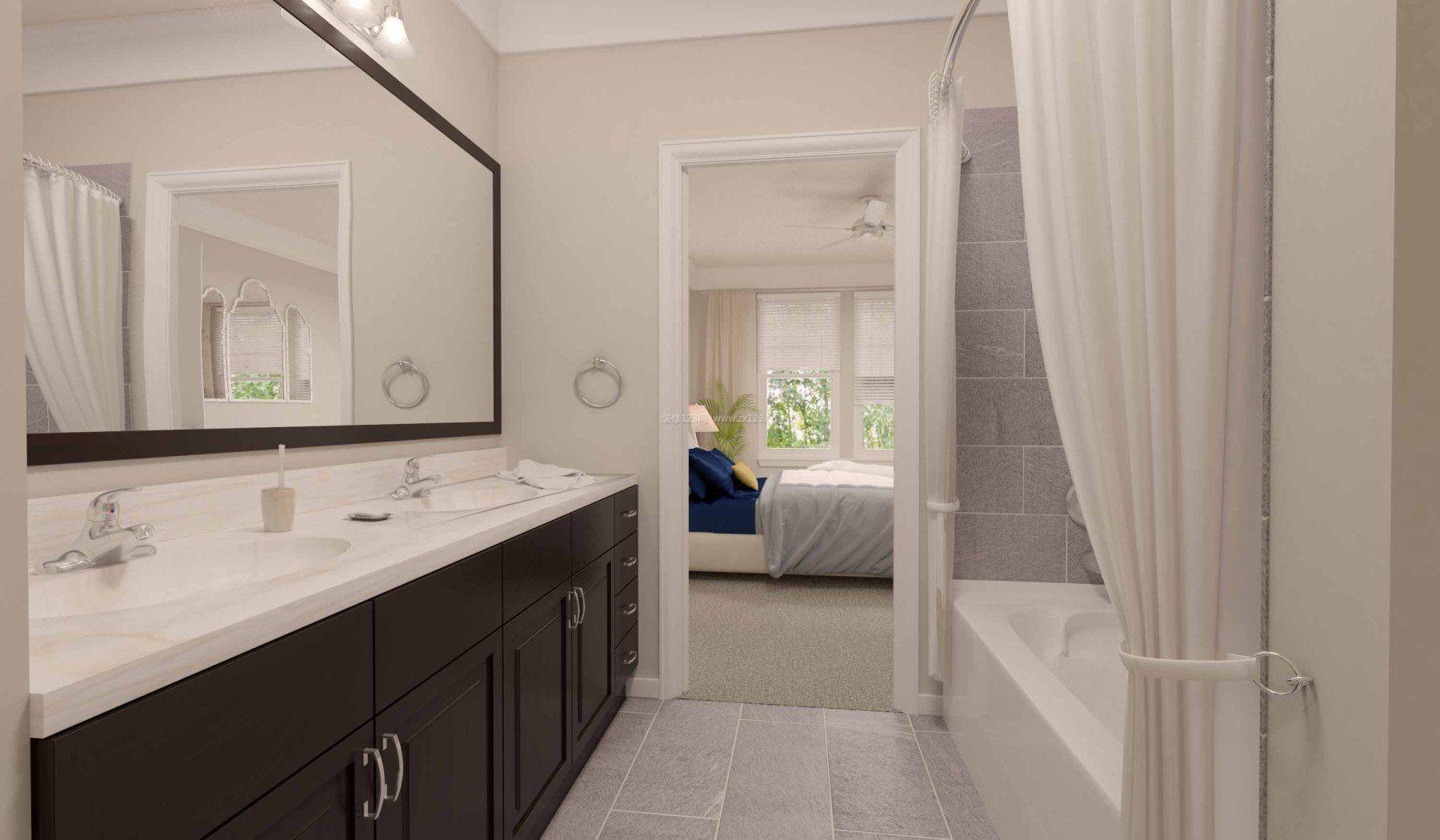 小卧室卫生间瓷砖装修效果图图片