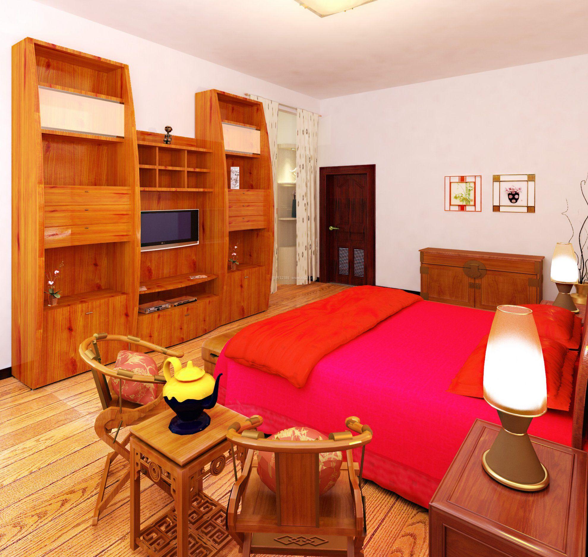 农村婚房装卧室实木家具修效果图