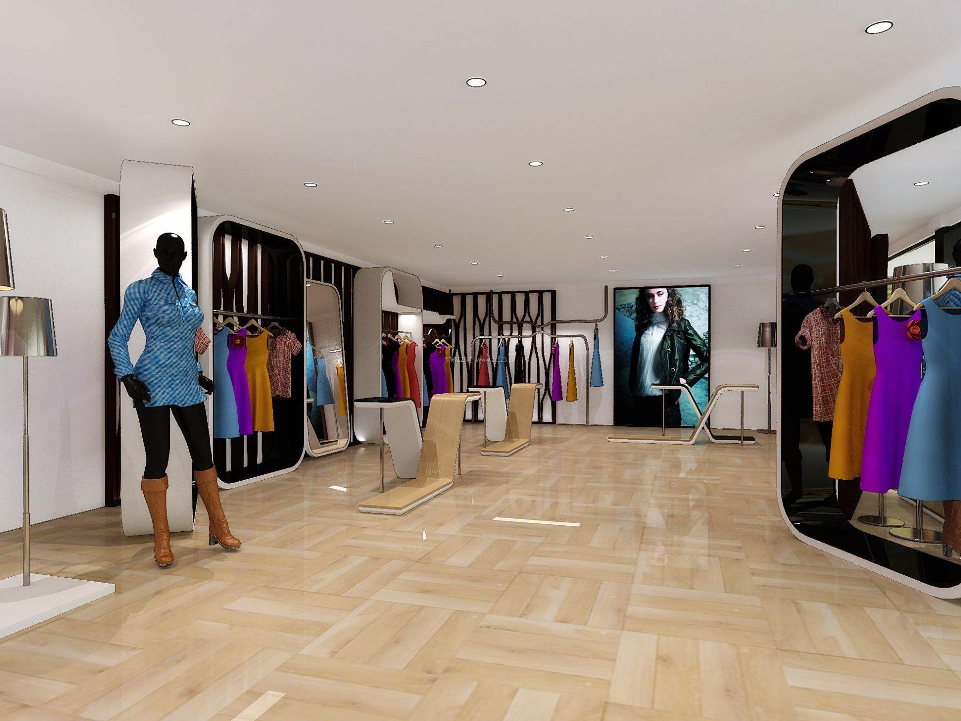 工装效果图 服装店 欧美风格服装店铺地砖的装修效果图 提供者