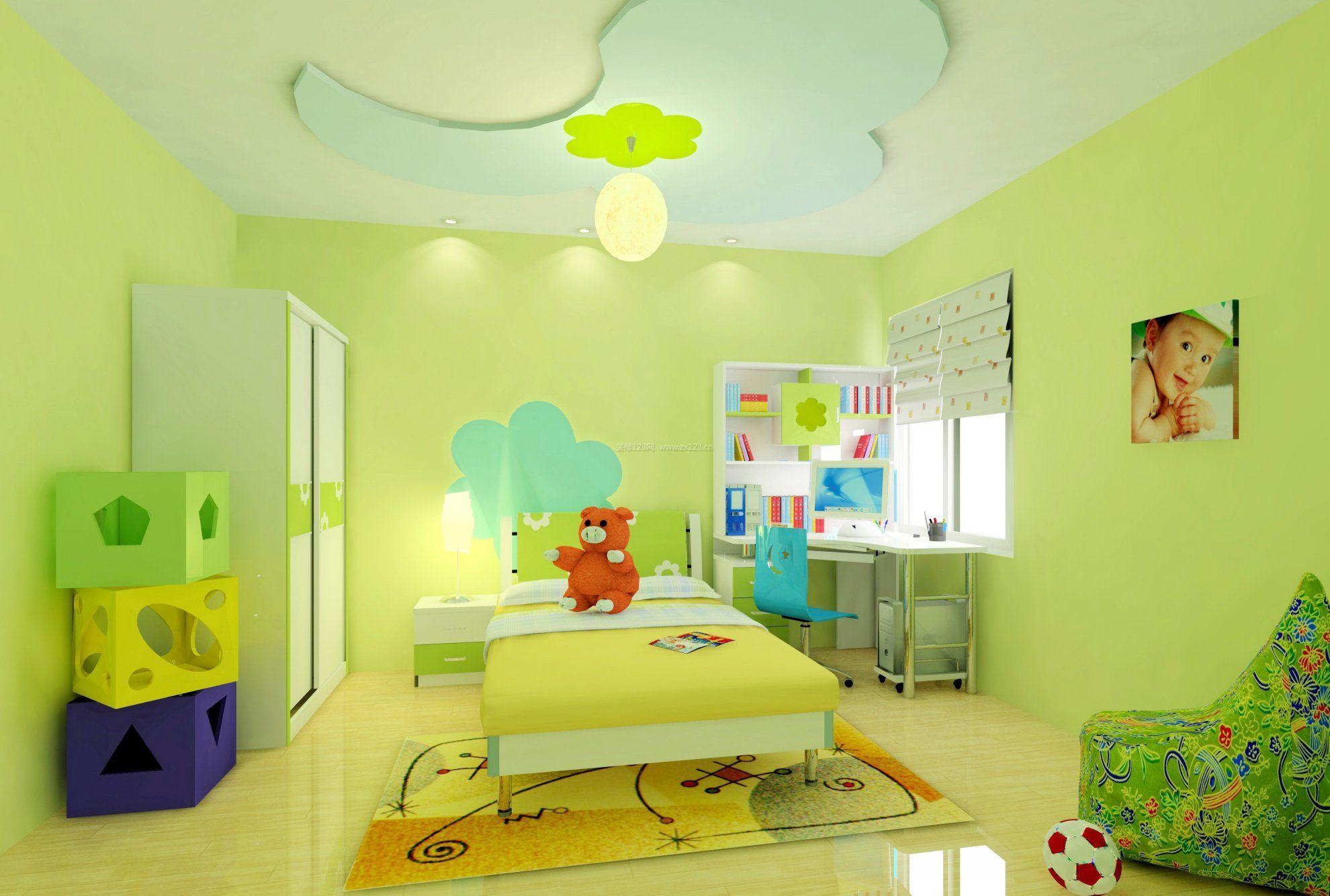 儿童房卧室书桌装修效果图赏析