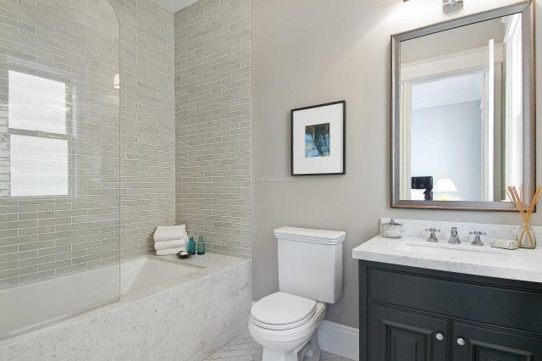 家庭廁所瓷磚裝修效果圖片2017圖片