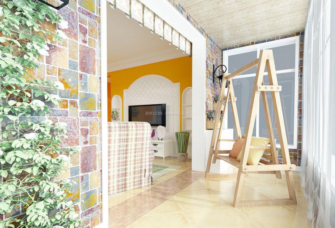 农村婚房客厅阳台装修效果图图片