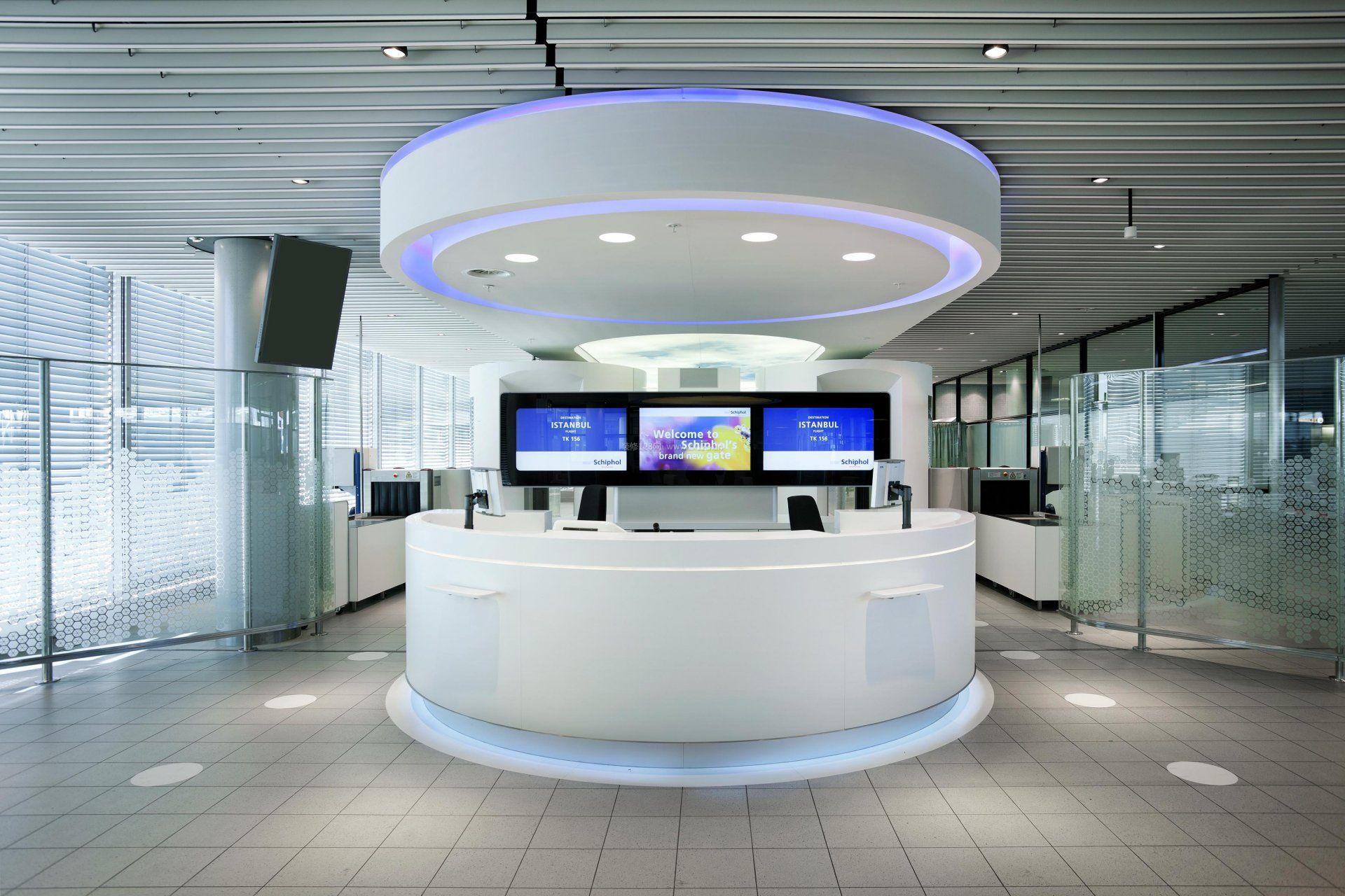 大型公司前台设计效果图图片