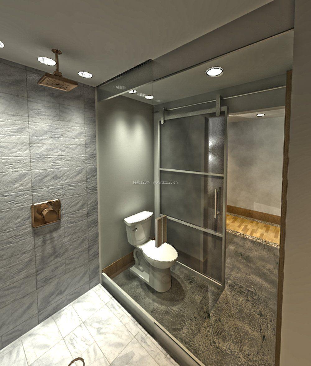 家居小卫生间瓷砖效果图片_装修123效果图