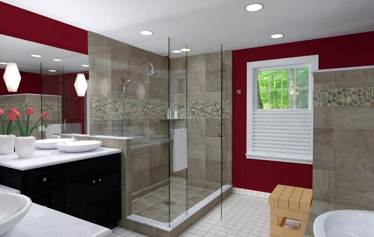 小卫生间整体淋浴房瓷砖效果图