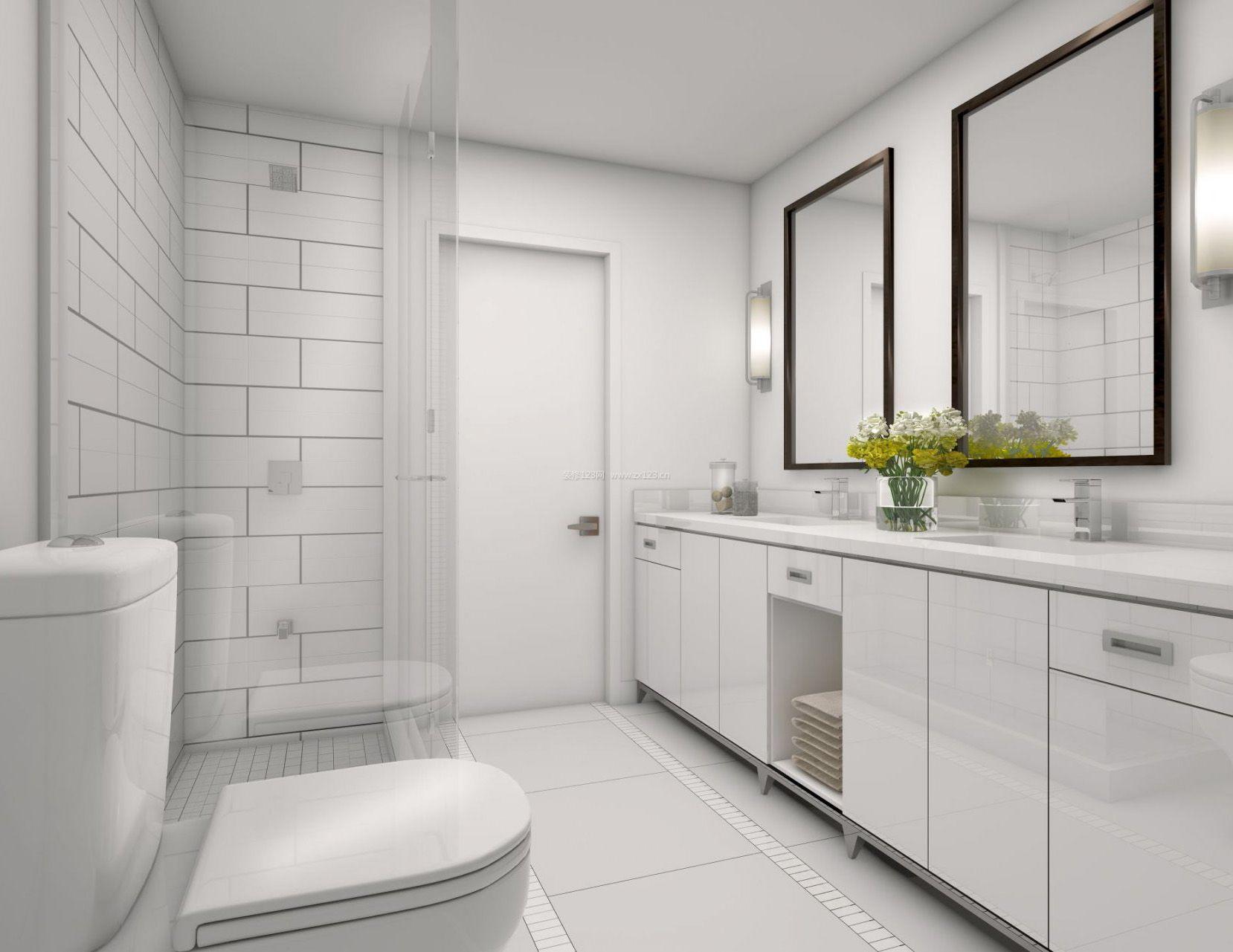 北欧风格家居设计小卫生间瓷砖效果图