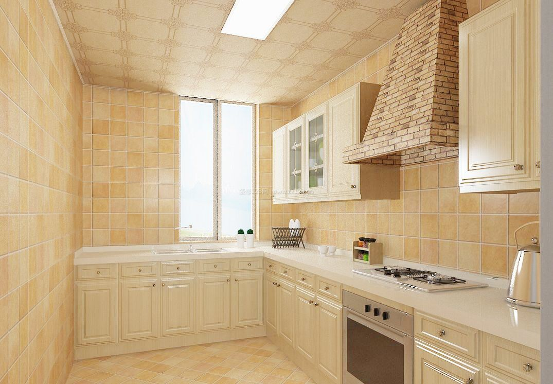 厨房仿古瓷砖贴图装修效果图