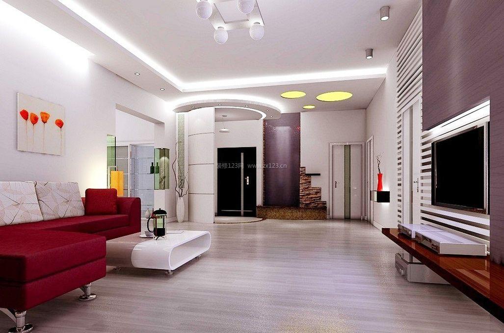 现代简约 客厅浅色木地板装修效果图欣赏