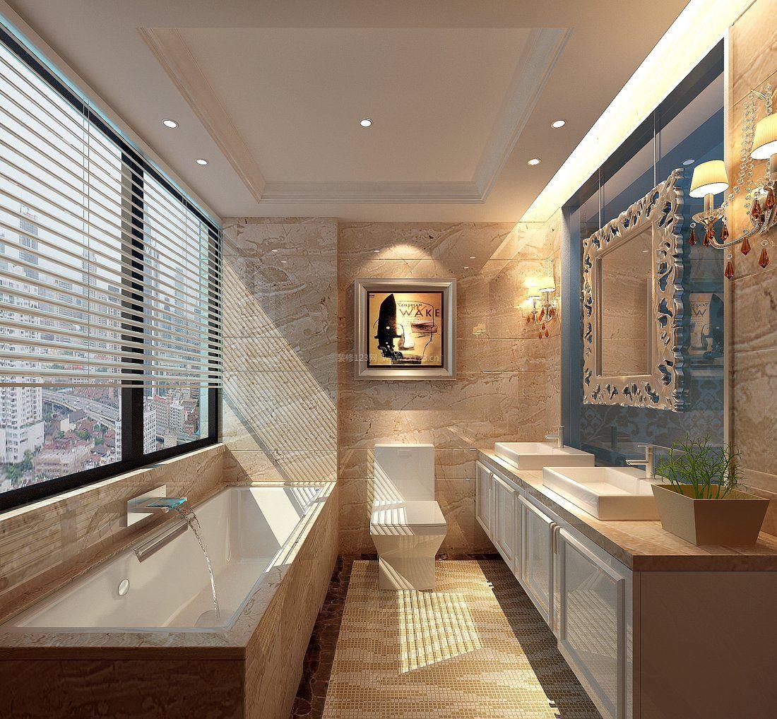 家装效果图 现代 现代时尚浴室瓷砖装修效果图 提供者:   ← → 可以
