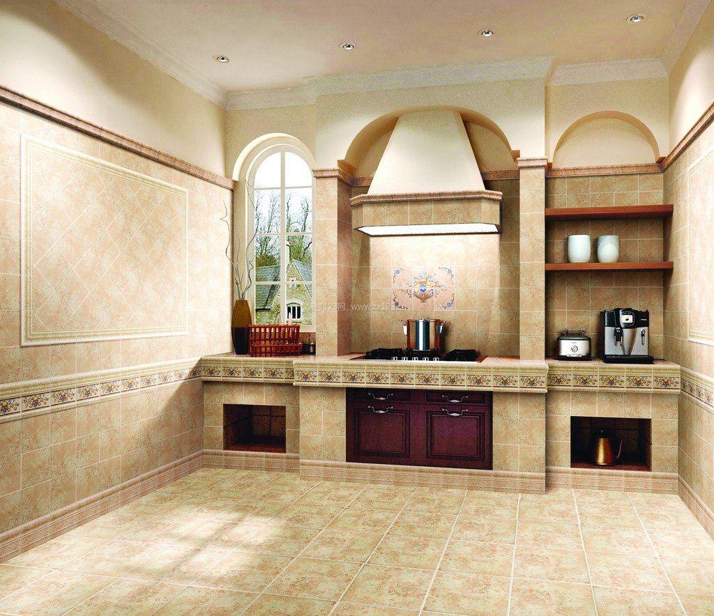 仿古瓷砖装修效果图厨房