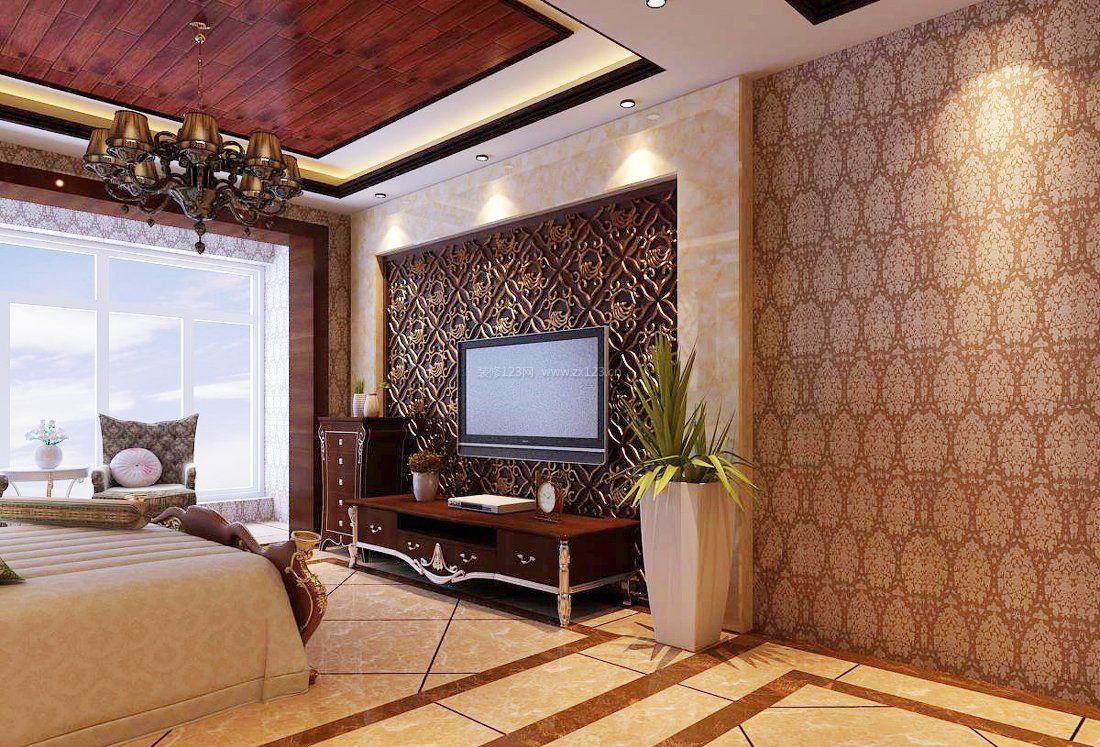 客厅仿古瓷砖装修效果图