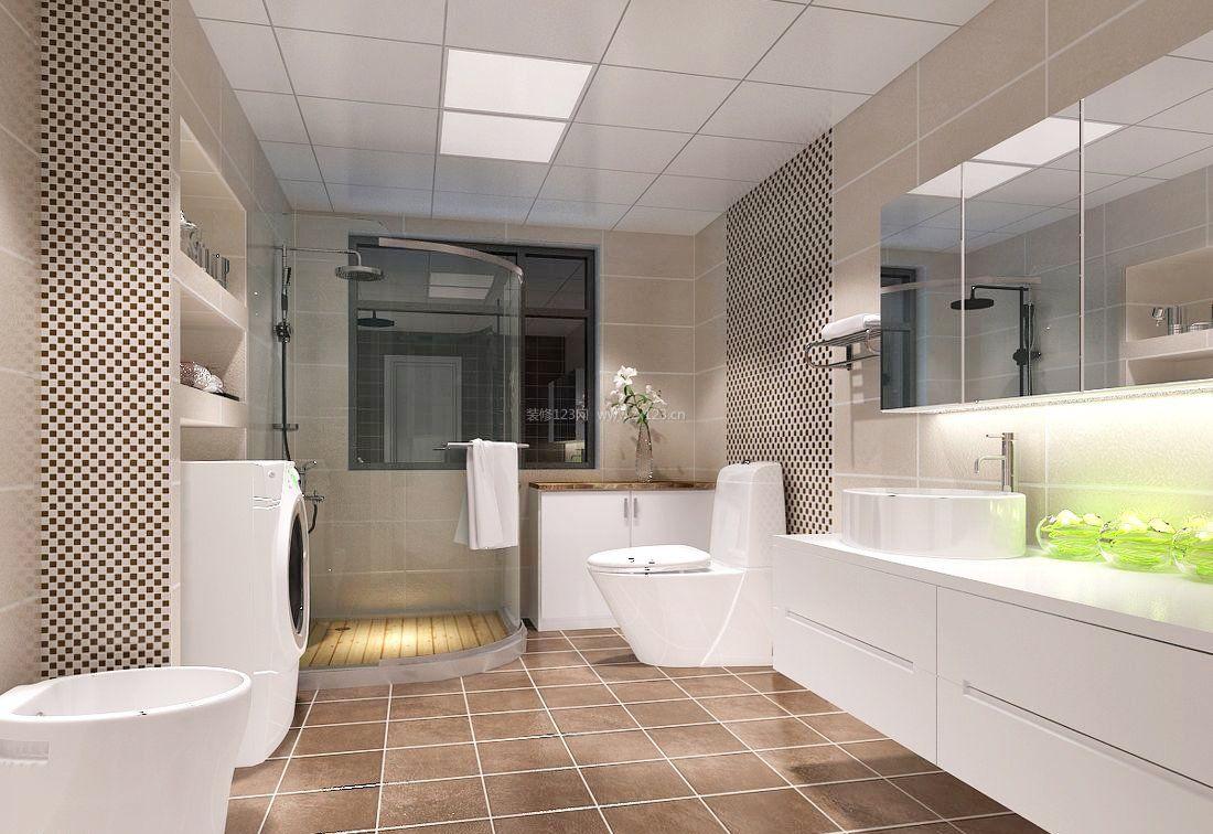 简约家装风格浴室瓷砖装修效果图