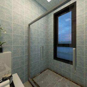 家庭卫生间装修图片 浴室玻璃隔断效果图
