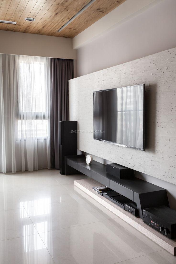家装室内3d影视墙效果图大全_装修123效果图