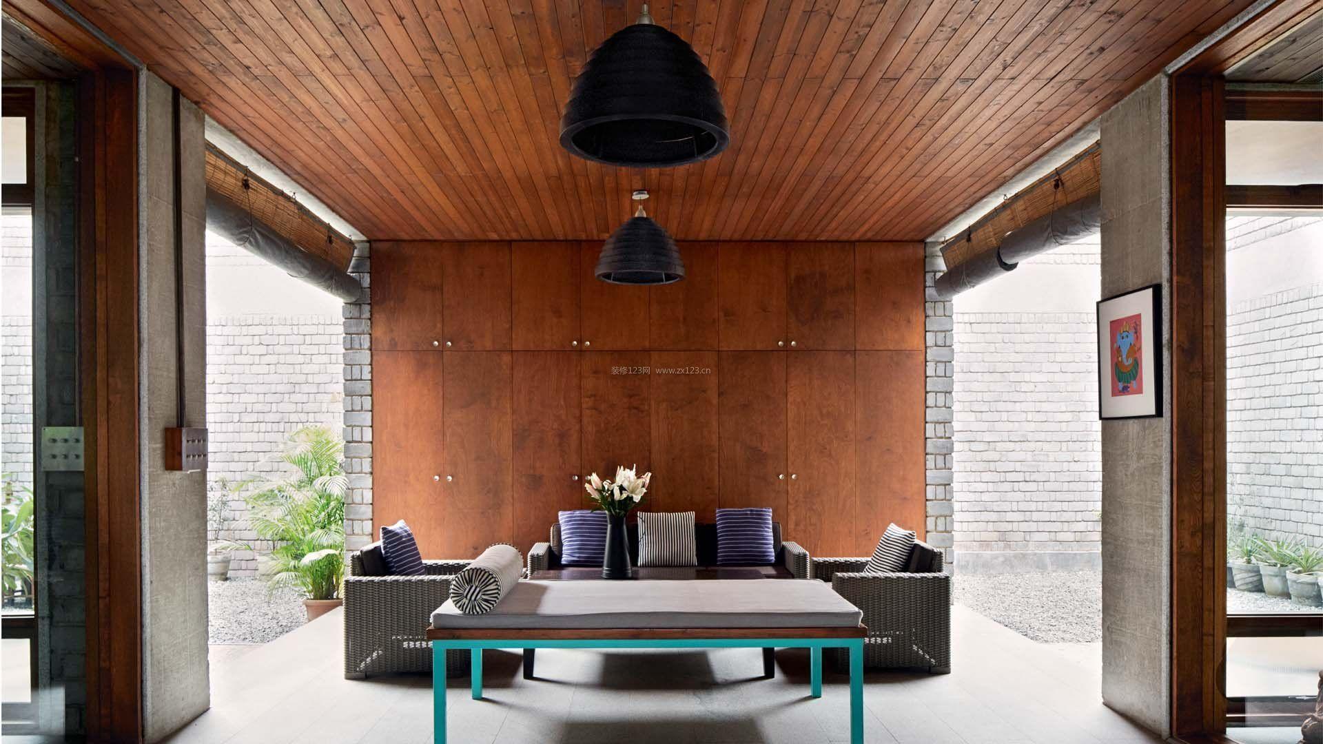 室内后现代风格吊顶设计装修效果图片