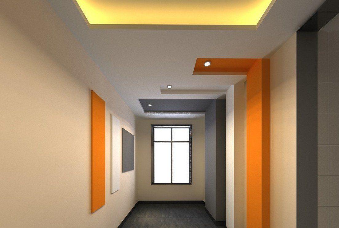 现代简约风格样板走廊过道吊顶效果图