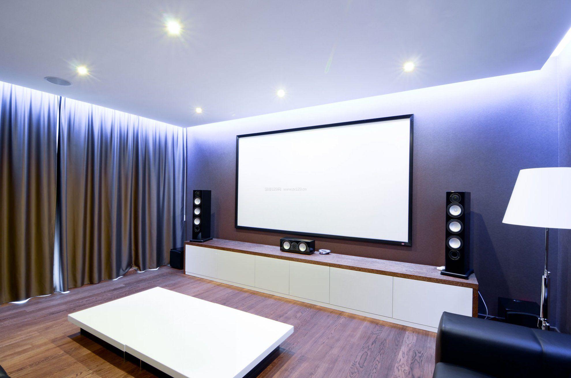 时尚简约室内3d影视墙效果图大全_装修123效果图