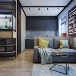 單身公寓簡約室內裝修設計圖
