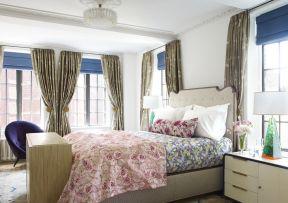 简欧风格窗帘装修设计效果图片大全
