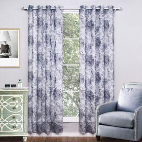 简欧风格窗帘装饰设计效果图片大全