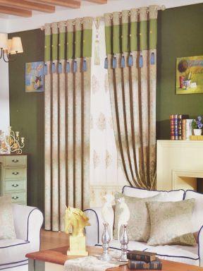 简欧风格窗帘设计效果图片