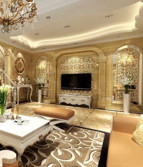 室内欧式罗马柱装修设计图片