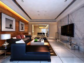 现代客厅电视墙装修效果图 四室两厅装修效果图片