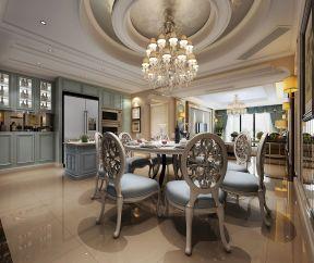 法式样板房装修效果图 漂亮餐厅吊顶