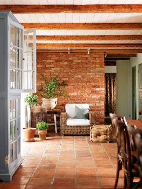 室内后现代风格 仿古瓷砖装修效果图